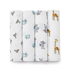 Aden + Anais - Classic Swaddle 4 pack - Jungle Jam