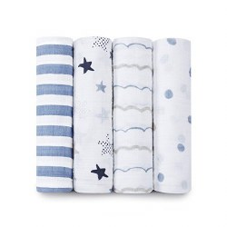 Aden + Anais - Classic Swaddle 4 pack - Rock Star