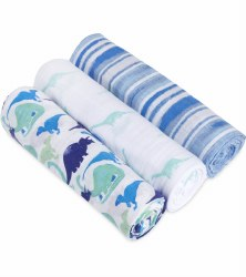 Aden + Anais - White Label Classic Swaddle 3 Pack - Jurassic