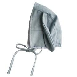 Alimrose - Bobby Bunny Linen Bonnet - Grey