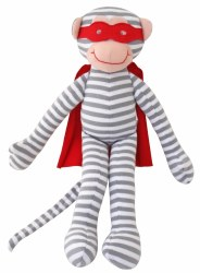 Alimrose - Doll - Super Heroe Monkey Grey