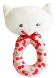 Alimrose - Grab Rattle - Kitty Cherry