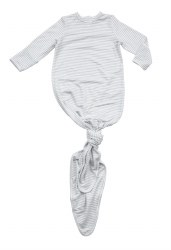 Angel Dear - Knotted Gown - Stripes Grey 0-3M