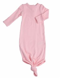 Angel Dear - Knotted Gown - Solid Pink 0-3M