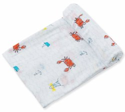 Angel Dear - Bamboo Single Swaddle Blanket - Crabby