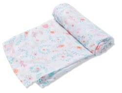 Angel Dear - Bamboo Single Swaddle Blanket - Jellyfish Garden