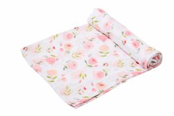 Angel Dear - Bamboo Single Swaddle Blanket - Pretty Pink Floral