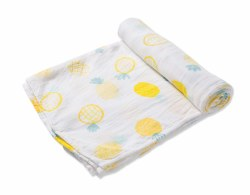 Angel Dear - Bamboo Single Swaddle Blanket - Pineapple