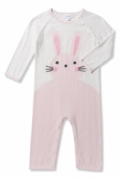 Angel Dear - Knit Coverall Bunny - Pink 0-3