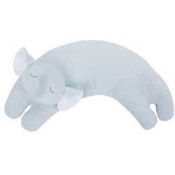 Angel Dear - Curved Pillow Grey Elephant