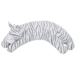 Angel Dear - Curved Pillow Grey Zebra