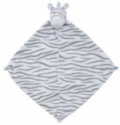 Angel Dear - Security Blankie - Grey Zebra