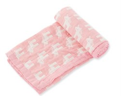Angel Dear - Jacquard Blanket - Unicorn Pink
