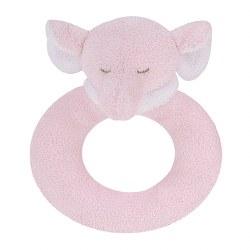 Angel Dear - Ring Rattle Elephant Pink