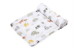 Angel Dear - Bamboo Single Swaddle Blanket - Endangered Species