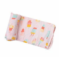Angel Dear - Bamboo Single Swaddle Blanket - Cool Sweet