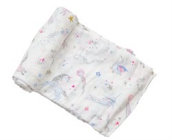 Angel Dear - Bamboo Single Swaddle Blanket - Celestial Pink