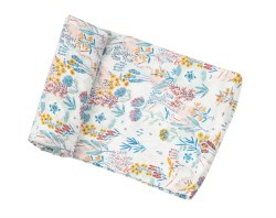 Angel Dear - Bamboo Single Swaddle Blanket - Crane