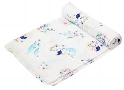 Angel Dear - Bamboo Single Swaddle Blanket - Mermaid