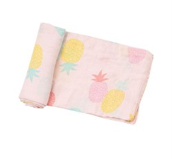 Angel Dear - Bamboo Single Swaddle Blanket - Pineapples