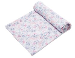Angel Dear - Bamboo Single Swaddle Blanket - Unicorn Damask