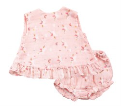 Angel Dear - Top & Shortie Set Unicorn - Pink 3-6M