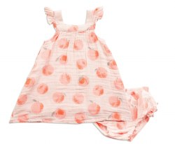 Angel Dear - Sundress and Diaper Cover - Peachy 6-12M