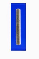 N L - Medium Acrylic Mezuzah - Blue