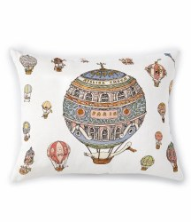 Atelier Choux Paris - Organic Cotton Cushion - Hot Air Balloon