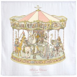 Atelier Choux Paris - Organic Swaddle Blanket - Carousel