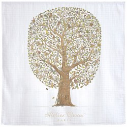 Atelier Choux Paris - Organic Cotton Swaddle Blanket - Family and Friends Tree