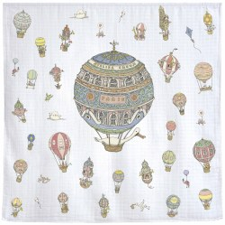 Atelier Choux Paris - Organic Cotton Swaddle Blanket - Hot Air Balloons