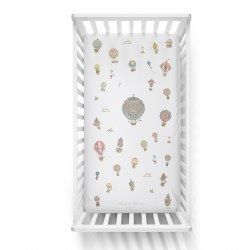 Atelier Choux Paris - Organic Cotton Crib Fitted Sheet - Hot Air Balloon