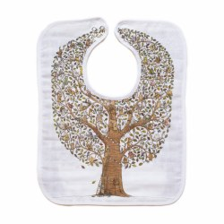 Atelier Choux Paris - Organic Large Bib - Family & Friends Tree