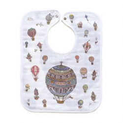 Atelier Choux Paris - Organic Large Bib - Hot Air Balloon