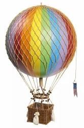 N L - Air Hot Balloon Large - Rainbow