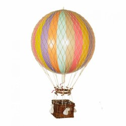 N L - Air Hot Balloon Large - Rainbow Pastel