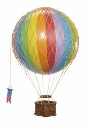 N L - Air Hot Balloon Medium - Rainbow