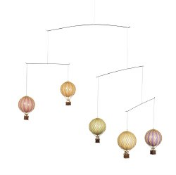 N L - Mobile - Small Air Hot Balloons Pastel Colors