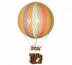 N L - Air Hot Balloon XL  Rainbow Pastel