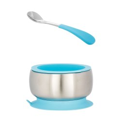 Avanchy - Stainless Steel Bow & Spoon - Blue
