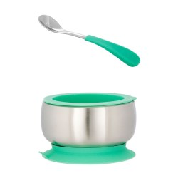 Avanchy - Stainless Steel Bow & Spoon - Green