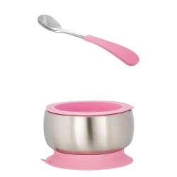 Avanchy - Stainless Steel Bow & Spoon - Pink
