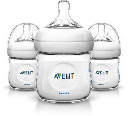 Avent - Natural 3 Pack Bottles 4oz
