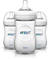 Avent - Natural 3 Pack Bottles 9oz