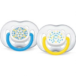 Avent - Free Flow Pacifier 6-18 Blue & Yellow