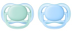 Avent - Ultra Air Pacifier 2-Pack - Blue 0-6M