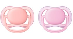 Avent - Ultra Air Pacifier 2-Pack - Pink 0-6M