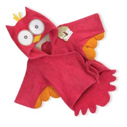 Baby Aspen - Bath Robe - Pink Owl