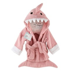 Baby Aspen - Bath Robe - Pink Shark